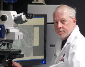 Paul Lambert in lab