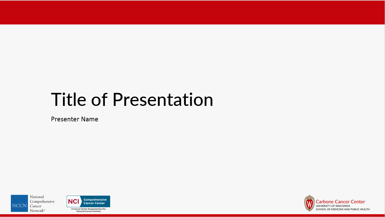 Powerpoint uwccc research uwmadison screenshot of the title page of the red uwccc powerpoint template thecheapjerseys Images