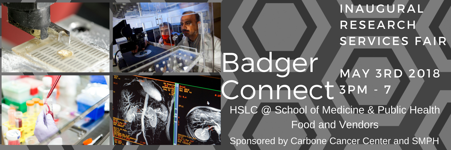 BadgerConnect, the inaugural research services fair, is May 3, 2018