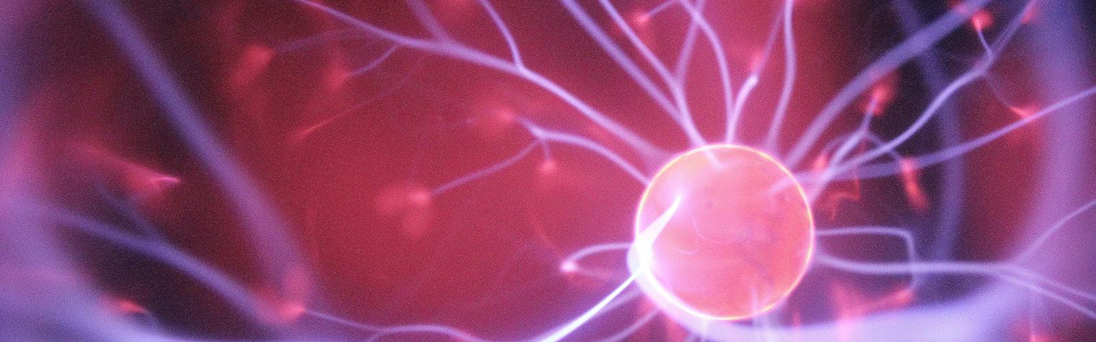 Pink and Purple Plasma Ball