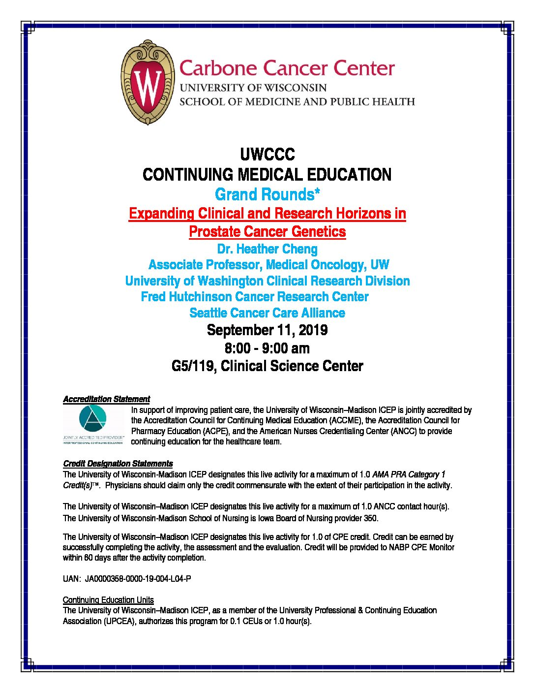 Grand Rounds – UWCCC Research – UW–Madison