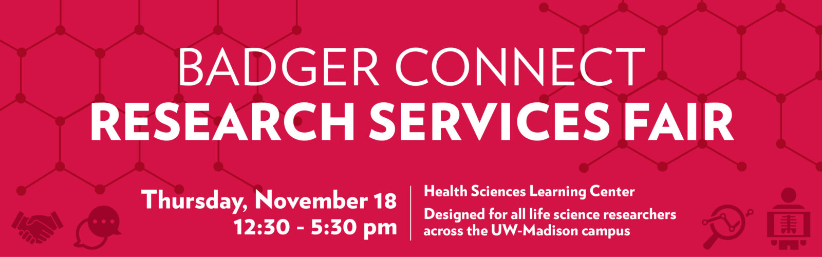 BadgerConnect 2021 Research Services Fair Banner