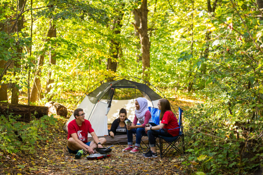 Image of people camping